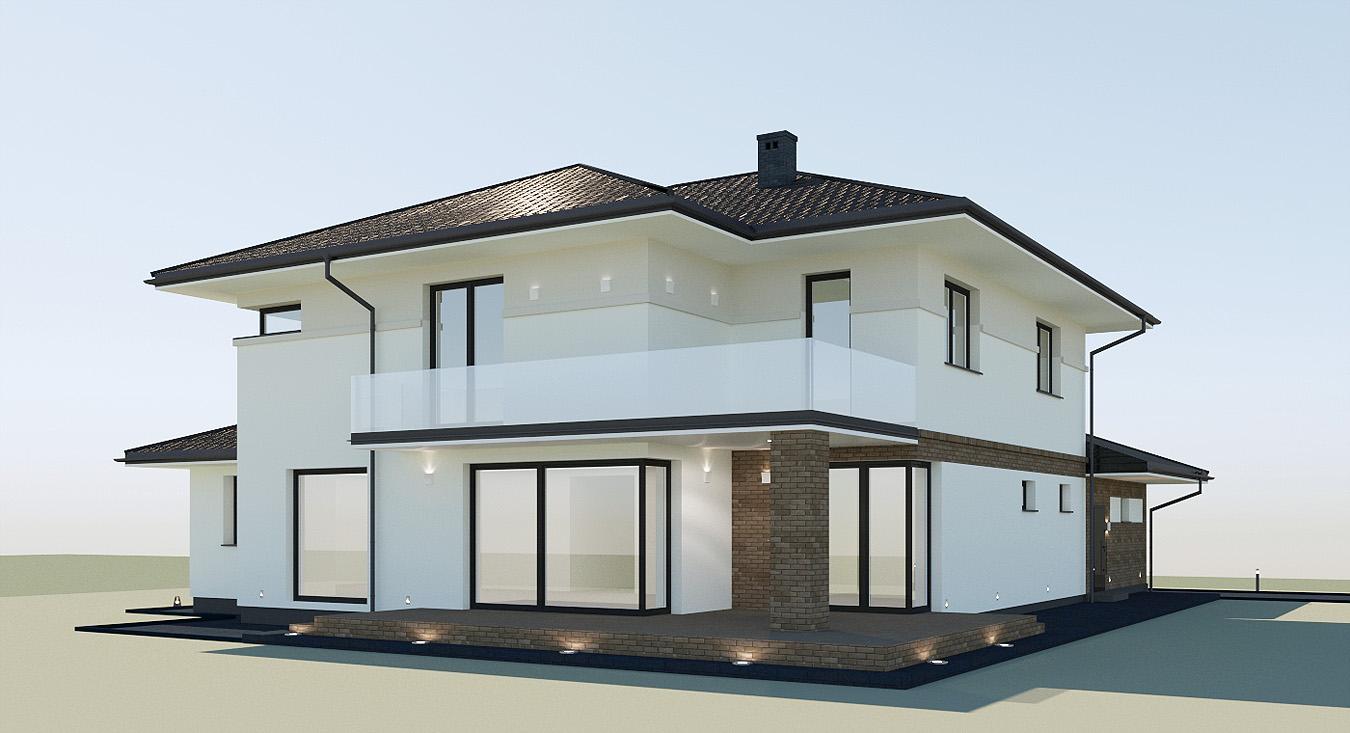 Projekt Wykończenia I Oświetlenia Elewacji Budynku